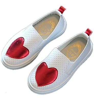 baratos Sapatos de Criança-Para Meninas Couro Ecológico Mocassins e Slip-Ons Little Kids (4-7 anos) Conforto Verde / Vermelho / Azul Primavera