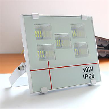billige Utendørsbelysning-1pc 50 W LED-lyskastere Vanntett / Nytt Design / Dekorativ Kjølig hvit 85-265 V Utendørsbelysning 100 LED perler