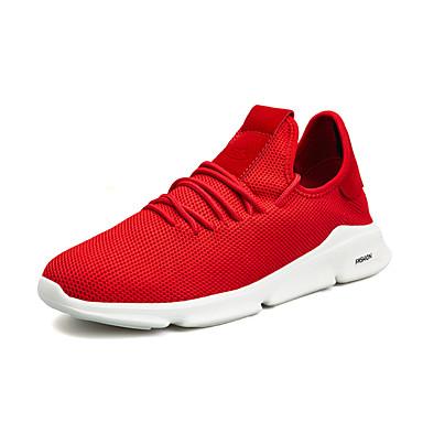 Erkek Ayakkabı Elastik Kumaş Sonbahar Sportif Atletik Ayakkabılar Günlük için Siyah / Siyah / Yeşil / Beyaz