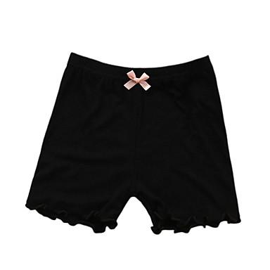 baratos Calças & Leggings para Meninas-Infantil Para Meninas Básico Sólido Leggings Preto