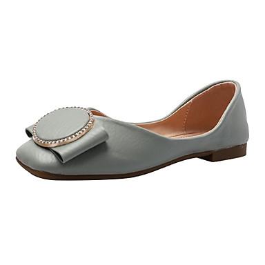 Kadın's Düz Ayakkabılar Düz Taban Taşlı PU Günlük Yaz Mavi / Pembe / Bej