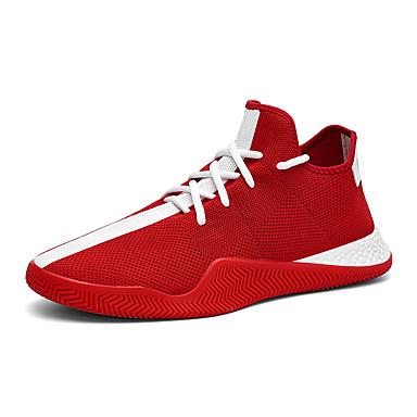 Erkek Ayakkabı Tissage Volant Yaz Sportif / Günlük Atletik Ayakkabılar Yürüyüş Günlük / Dış mekan için Siyah / Beyaz / Kırmzı