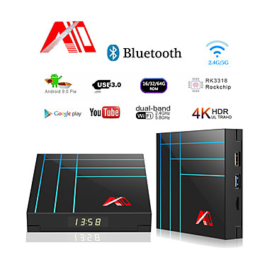 A10 Smart TV Box 4 ГБ 32 ГБ RK3318 Четырехъядерный Iptv Android TV Box YouTube 4K HDR медиа-плеер Google Play