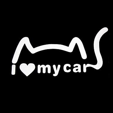 smiješno volim svoj automobil slatka crtani uzorak odbojna naljepnica ukras