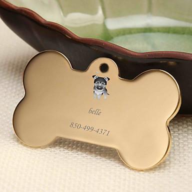 Kişiselleştirilmiş Özelleştirilmiş Alman Belçi Köpeği Evcil Hayvan Etiketleri Klasik Hediye Günlük 1pcs Altın Gümüş Gül Altın