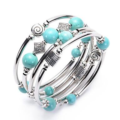 voordelige Dames Sieraden-Dames Kralenarmband Chunky Lucky Modieus Elegant Steen Armband sieraden Turkoois Voor Dagelijks Festival