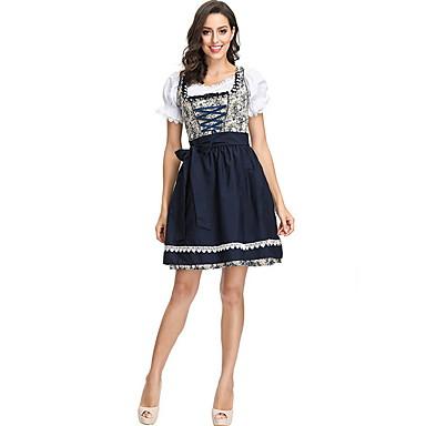 Bavyera Kostüm Kadın's International Cadılar Bayramı Performans Kostümler Kadın's Dans kostümleri Polyester Tema / Baskı