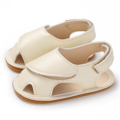 baratos Sapatos de Criança-Para Meninos / Para Meninas Couro Ecológico Sandálias Crianças (0-9m) / Criança (9m-4ys) Primeiros Passos Dourado / Rosa claro / Bege Verão