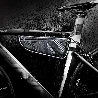 billige Sykkelvesker-1 L Vesker til sykkelramme Vanntett Vanntett Glidelås Anvendelig Sykkelveske PU Leather TPU EVA Sykkelveske Sykkelveske Sykling Sykkel