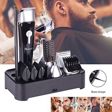 billige Skjønnhet og hår-5 i 1 multifunksjonell elektrisk hårklipper skjeggtrimmer ladbar epilator vanntett nesehårenhet