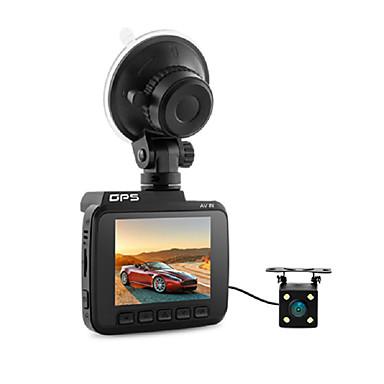 billige Bil-DVR-dobbeltobjektiv wifi fhd 1080p foran vga bakre bil dvr-opptaker 2880 x 2160p dash cam novatek 96660 kamera innebygd gps