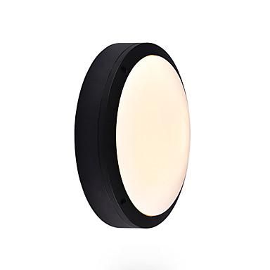 Mini alüminyum aplik açık yuvarlak duvar ışık su geçirmez paslanmaz duvar fener banyo fenerler duvar / tavan monteli gömme montaj siyah