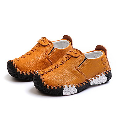 billige Mokasiner til barn-Gutt / Jente Mikrofiber Flate sko Toddler (9m-4ys) Første gåsko Svart / Hvit / Gul Høst