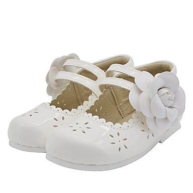 baratos Sapatos de Criança-Para Meninas Microfibra Rasos Little Kids (4-7 anos) Conforto Flor Preto / Branco Verão