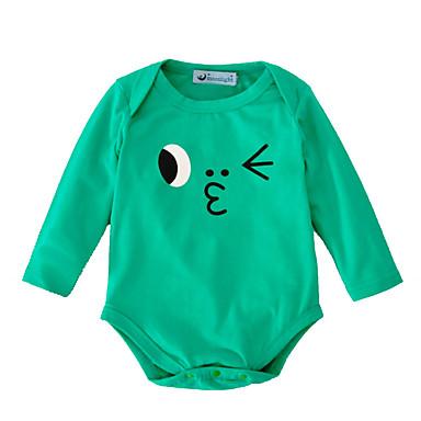 billige Babydrakter-Baby Jente Aktiv / Grunnleggende Trykt mønster Trykt mønster Langermet Body Lilla