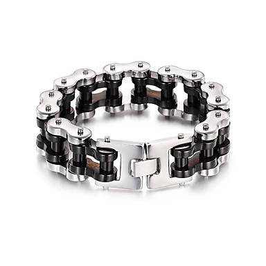 voordelige Herensieraden-Heren Dames Goud Armband Schakelketting Fietsen Punk Roestvast staal Armband sieraden Zilver Voor Kerstmis Lahja Dagelijks Straat Club