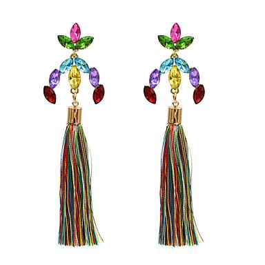 voordelige Dames Sieraden-Dames Druppel oorbellen Lang Pakket Gesimuleerde diamant oorbellen Sieraden Wit / Paars / Fuchsia Voor Dagelijks 1pc