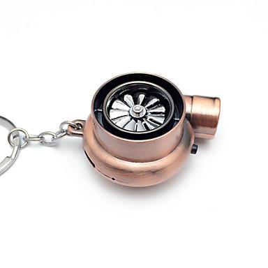 voordelige Auto-interieur accessoires-creatieve elektrische turbo aansteker sleutelhanger usb oplaadbare sigarettenaansteker sleutelhanger met led licht en geluid