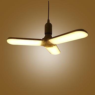 billige Elpærer-zdm 45w e27 ledepære ultra-lys sammenleggbar paraplylampe trifoil lampe justerbar taksuger lampe ac85-265v