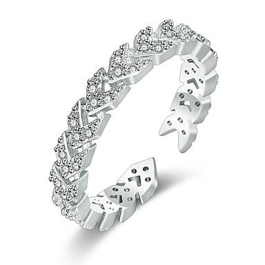 billige Motering-Dame Ring / Åpne Ring 1pc Rose Gull / Sølv Kobber Sirkelformet Grunnleggende / Koreansk / Mote Gave / Daglig Kostyme smykker