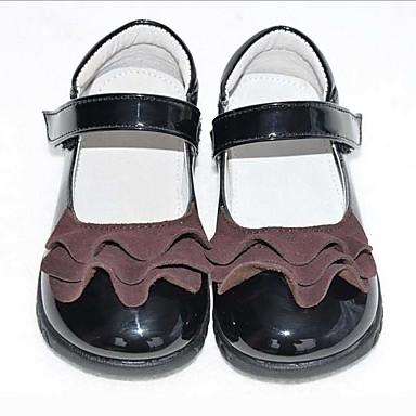 baratos Kids' Flats-Para Meninas Couro Ecológico Rasos Little Kids (4-7 anos) Sapatos para Daminhas de Honra Preto Verão