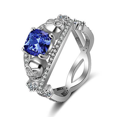 abordables Bague-Femme Bague / Anneaux 1pc Vert / Rouge / Bleu Cuivre Circulaire Basique / Mode Cadeau Bijoux de fantaisie