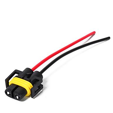 voordelige Automatisch Electronica-2 stks h11 / h8 female head extension connector plug socket met kabelboom heavy duty adapter