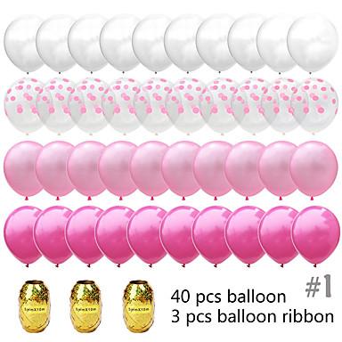 voordelige Feestbenodigdheden-Ballonbundel Emulsie 1 set Bruiloft