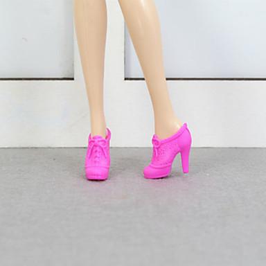 voordelige Poppenaccessoires-Doll schoenen Voor Barbie Effen Effen Kleur Polyesteri Schoenen Voor voor meisjes Speelgoedpop