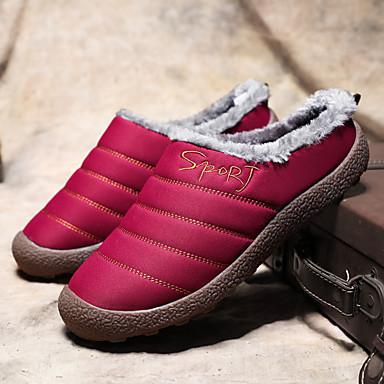 voordelige Damespantoffels & slippers-Dames Slippers & Flip-Flops Creepers Ronde Teen Polyester Informeel Wandelen Winter Zwart / Bruin / Rood