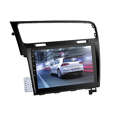 voordelige Automatisch Electronica-One Din autoradio voor VW Golf - Android 8.0.1 GPS Bluetooth Wifi 3G& 4g octa-core cpu 10,2-inch hd-display kan bus
