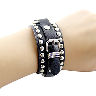 cheap Bracelets-Men's Women's Leather Bracelet Vintage Style Totem Series Stylish Punk Hippie Ancient Rome Steampunk Hard Leather Bracelet Jewelry Black For Halloween Graduation Daily Carnival Festival