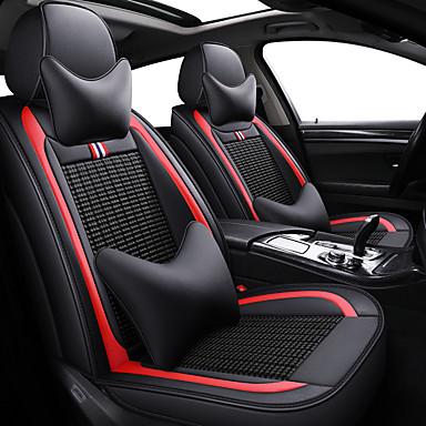 voordelige Auto-interieur accessoires-vier seizoenen auto zitkussen comfortabel ademend cartoon mode auto stoelhoes / zwart / beige / grijs
