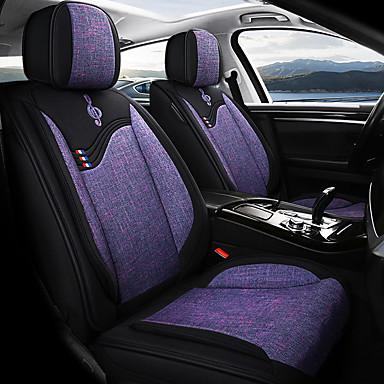 voordelige Auto-interieur accessoires-5 stks / set vijf autostoelkussens vier seizoenen universele linnen gemengd autostoel cover compatibel airbag