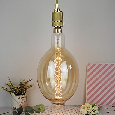billige Elpærer-1 stk 40 w e26 / e27 varmhvit dekorativ glødende vintage edison lyspære 220-240 v