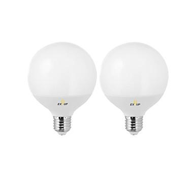 billige Elpærer-EXUP® 2pcs 12 W LED-globepærer 1000 lm B22 E26 / E27 G95 24 LED perler SMD 2835 Fest Dekorativ Bedårende Varm hvit Kjølig hvit 240 V