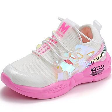 baratos Sapatos Infantis Para Esportes-Para Meninas Com Transparência Tênis Little Kids (4-7 anos) Conforto Amarelo / Rosa claro Outono