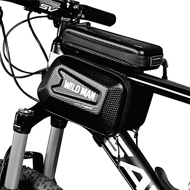 billige Sykkelvesker-Mobilveske Vesker til sykkelramme 5.8 tommers Sykling til Sykling Andre Tilsvarende Størrelse Telefoner Svart Foldesykkel Fritidssykling Sykkel med fast gir