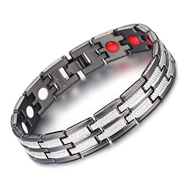 voordelige Herensieraden-Heren Oorbellen / armband Klassiek Lucky Luxe Punk modieus Gothic Modieus Koper Armband sieraden Zilver / Zwart Voor Lahja Dagelijks Feestdagen Festival