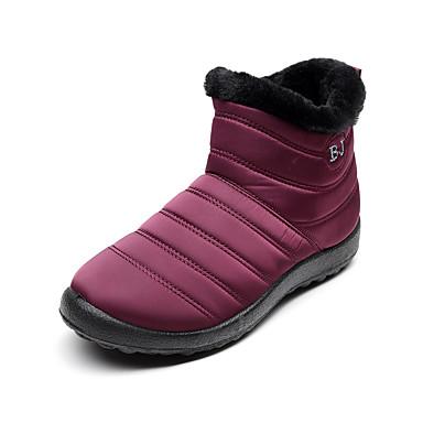 voordelige Dameslaarzen-Dames Laarzen Creepers Ronde Teen Elastische stof Kuitlaarzen Informeel / Chinoiserie Wandelen Herfst winter Zwart / Rood / Blauw