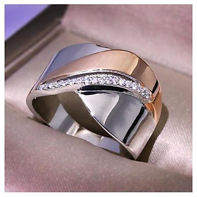 voordelige Dames Sieraden-Dames Ring Kubieke Zirkonia 1pc Goud Koper Geometrische vorm Modieus Feest Dagelijks Sieraden meetkundig Vlinder Cool