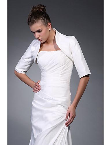 Yarım Kol Polyester Parti / Gece Kadın Eşarpları İle Nakış Kabanlar / Ceketler