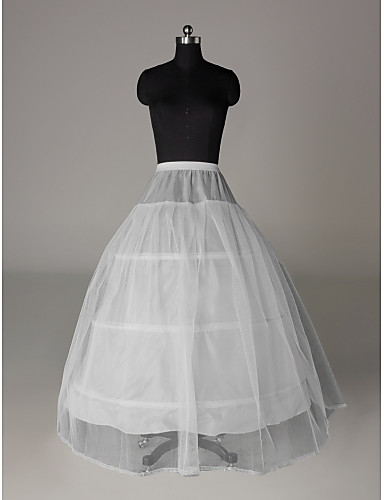 Wedding Special Occasion Party / Evening Slips Nylon Tulle Floor-length A-Line Slip Classic & Timeless with
