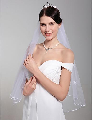 2 strati di velo da sposa bella gomito