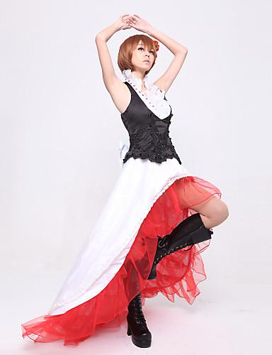 voordelige Cosplay & Kostuums-geinspireerd door Vocaloid Meiko Video Spel Cosplaykostuums Cosplay Kostuums Patchwork Top kostuums