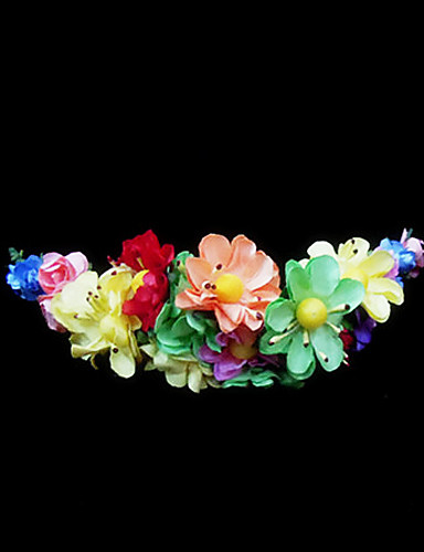 abordables Demoiselles d'Honneur-Cristal / Tissu / Papier Diadèmes / Fleurs avec 1 Mariage / Occasion spéciale / Fête / Soirée Casque