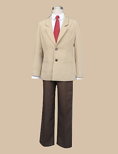 levne Cosplay a kostýmy-Inspirovaný Death Note Yagami Raito Anime Cosplay kostýmy japonština Cosplay šaty / Školní uniformy Dlouhý rukáv Kabát / Tričko / Kalhoty Pro Pánské