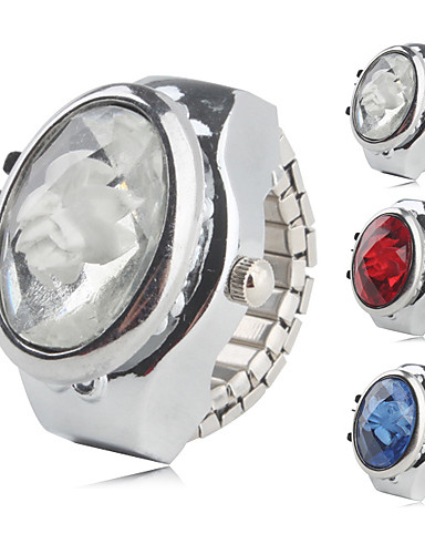 cheap Floral Watches-Women's Ring Watch Quartz Silver Casual Watch Analog Ladies Flower Sparkle Fashion - White Red Blue One Year Battery Life / SSUO SR626SW
