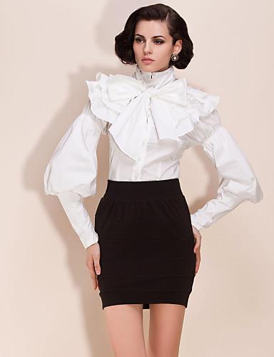 ts avtakbar lotus blad krage / midje bodysuit bluse skjorte (flere farger)