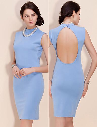ts im chinesischen Stil Open-Back-Halfter BodyCon Kleid